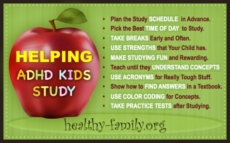 Helpful Study Tips for ADHD